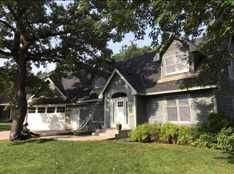 Before Image - Exterior residential home painting project from DuraPro Painting.