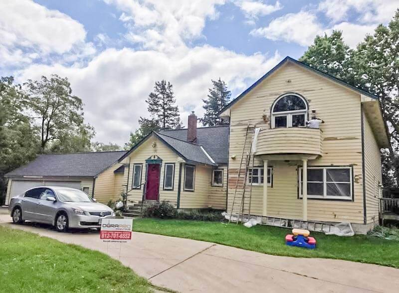 Before Image - Residential exterior painting project from DuraPro Painting.