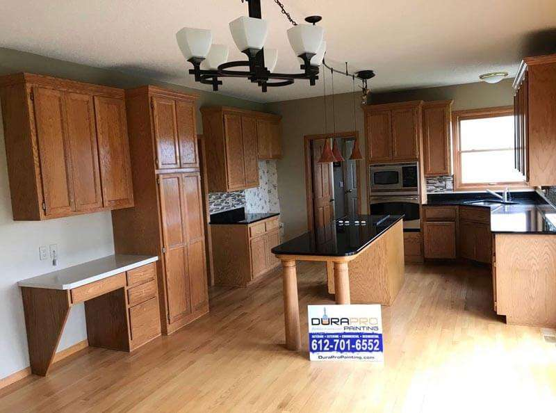 Before Image - Kitchen cabinet painting